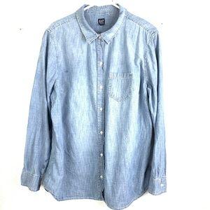 GAP XL Denim Chambray Shirt